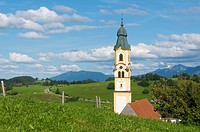 Church in the Berg district, Pfronten, Allgaeu, Bavaria, Germany, Europe