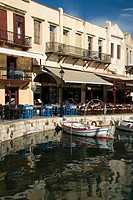 Old Venetian harbor, Rethymno, Crete, Greece