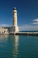 Venetian lighthouse, Venetian harbor, Rethymno, Crete, Greece