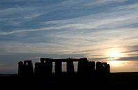 Stonehenge at sunset, England, UK