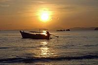 Sunset, Ao Nang, Thailand, Asia