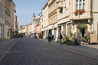 Collegienstrasse, Lutherstadt Wittenberg, Saxony-Anhalt, Germany, Europe