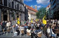 Pedestrian area München Munich Bavaria Germany