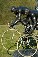 Lausanne Switzerland Statues in the Parc Olympique  Statue Olympia by Gabor Mihaly