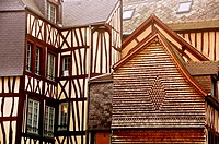 ancient Half timbered houses Old Town ROUEN Normandy 76 France