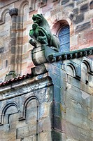 France, French, Western Europe, Europe, European, Architecture, building, City, town, Alsace, Rosheim, Bas_Rhin department, Church, Romanesque, Sculpt...