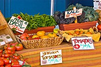 Organic produce at Farmers' Market, Nevada City, California