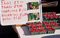 Organic berries at Farmers' Market, Arcata, California
