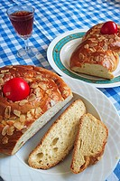 Greek Traditional Easter Bread, Tsoureki
