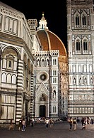 Duomo Campanile and Baptistry Florence at night