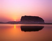 Jeju Island/ glowed sunrise peak