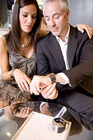 Couple buying a wristwatch