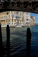 The Grand Canal and the Palazzo Cavalli Franchetti from under the Accademia bridge