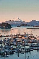 Sunrise over Thomsen Harbor in Alaska The City and Borough of Sitka is a unified city-borough... (thumbnail)