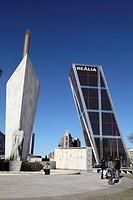 Puerta de Europa, Plaza de Castilla, Madrid, Spain