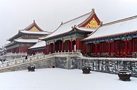 The Forbidden City in Winter  Beijing  China.