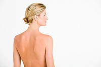 Nude woman's back