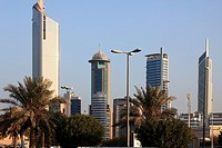 Kuwait, Kuwait City, skyscrapers, skyline,