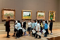 Metropolitan Museum of Art, New York City, Elementary school children during a school trip