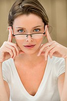 Woman eyeglasses