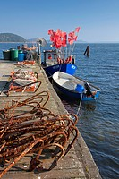 Fishing boats at Reddevitz, Ruegen island, Mecklenburg, Western Pomerania, Germany