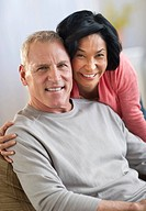 Portrait of cheerful mature couple