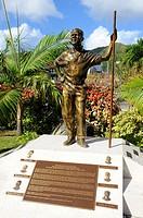 Statue Ralph O´Neal Road Town Tortola BVI Caribbean Cruise