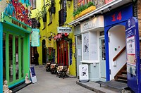 Colourful Shops and Cafes, Neal's, Yard, Covent Garden, London, England, Uk