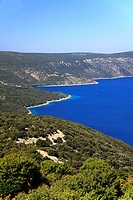 Kvarner Gulf seen from Cres Island, Croatia