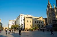 Placa del Rei square Barri Gotic quarter central Barcelona Catalunya Spain Europe