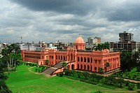 The historic Ahsan Manjil, is situated in Kumartoli, on the bank of the Buriganga river, in Dhaka, Bangladesh It had been used as the residential pala...