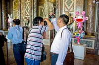 Versailles, France, Chinese Tourists Visiting Contemporary Arts Show, Takashi Murakami Versailles, 'Kaikai & Kiki' in the Venus Salon