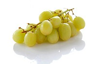Delicious fresh white grapes