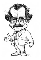 Robert Winston. Caricature of the British doctor, broadcaster and politician Robert Winston born 1940. Winston is professor of fertility studies at th...