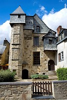 Typical houses of the old town of Vitré, in Ille-et-Vilaine department  Brittany Region, France