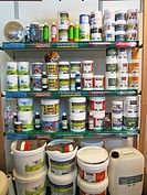 Home Improvements, Natural Paints on Display in Shop