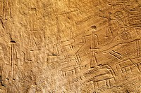 the Chariots, rock drawings since the Egyptian period, Negev, Israel, Middle East, Western Asia