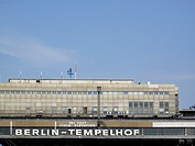 Departure hall of the old airport Berlin Tempelhof, Germany