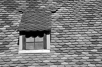 Windows and roof tiles in the Fuggerei Augsburg