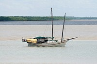 Junk moored in Darwin Harbour, Australia
