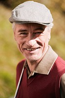 Italy, Kastelruth, Mature man smiling, portrait
