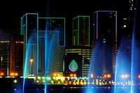 Modern towers, Doha, capital of the Emirate of Qatar, Arabian Peninsula, Persian Gulf, Middle East.