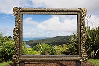 New Zealand, North Island, View of waitakere ranges regional park