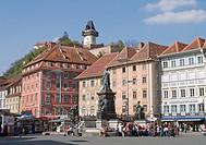 Austria, Styria, Graz, Tourist in city