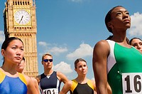 Athletes by London's Big Ben