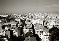 A panoramic view over the district of Beyoglu in Istanbul, Turkey