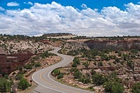Winding Road next to Shafer Canyon, Utah, USA