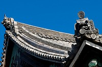 Japan, Kyoto, Arashiayama, Horin ji temple, details of the temple roof