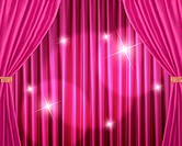 Pink stage curtain, Digital enhancement