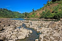 Natural view of the Sangu River at Tindu Bandarban, Bangladesh December 2009